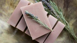Homemade Lavender Soap Bars