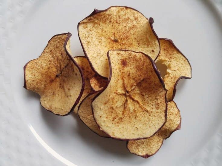 Dehydrating Cinnamon Apple Rings