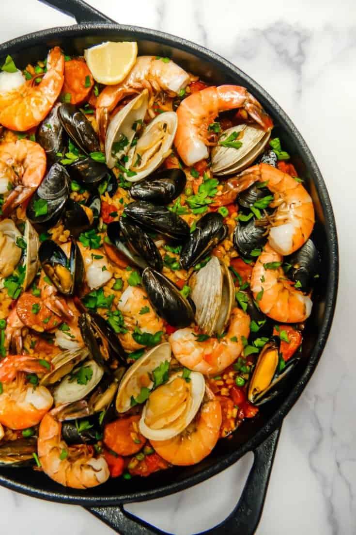 Seafood Chorizo Paella