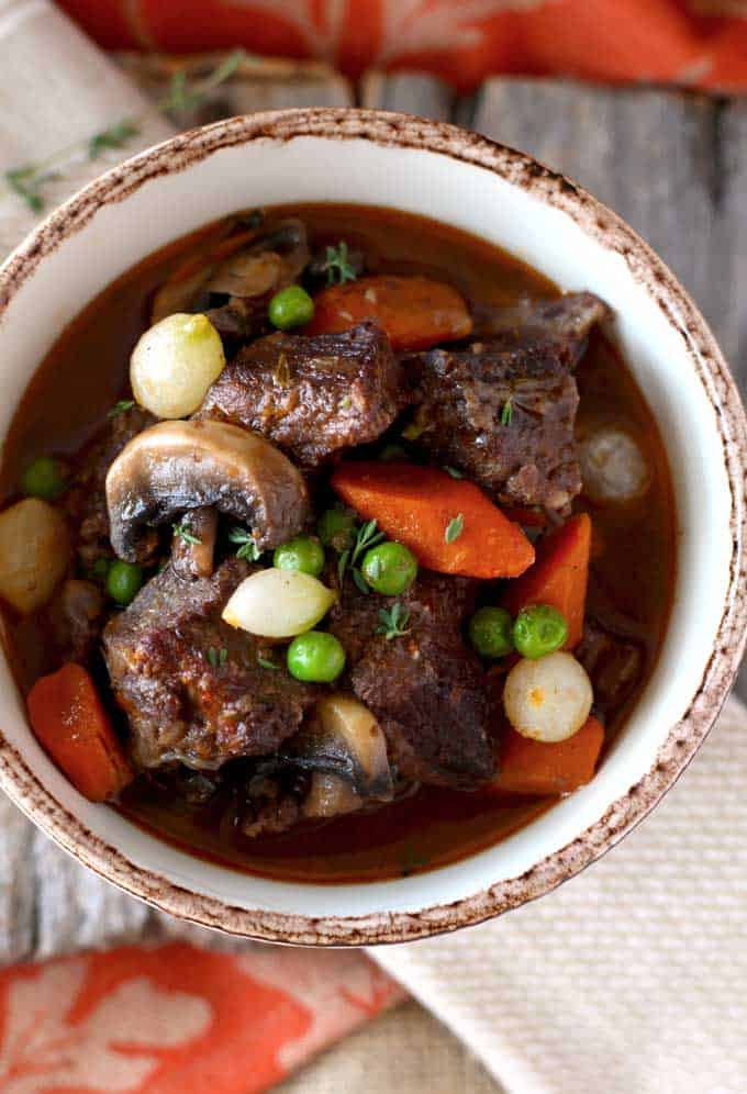 Homemade Beef Stew in Red Wine