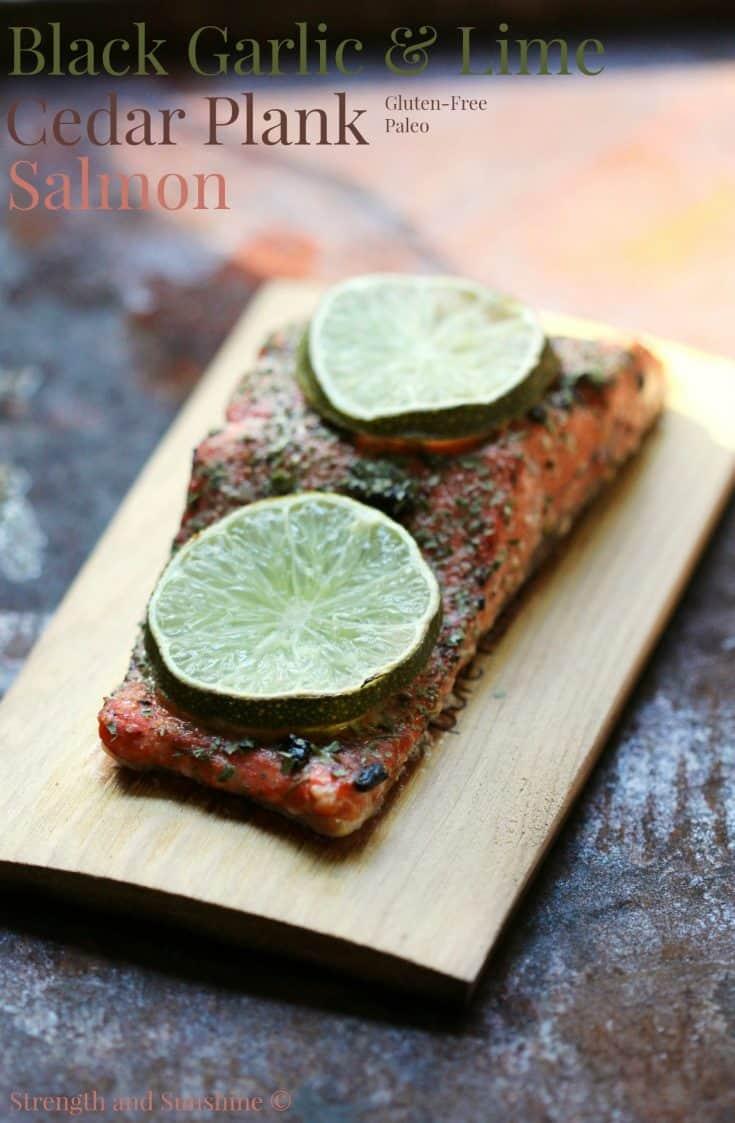 Black Garlic & Lime Cedar Plank Salmon