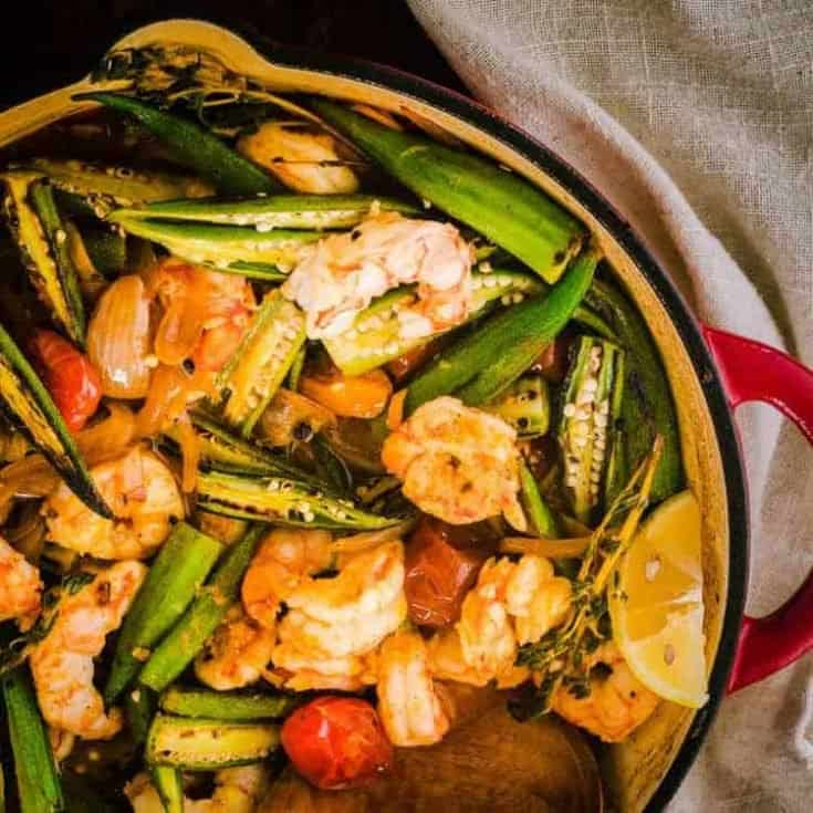 Healthy Cajun-Style Charred Okra and Shrimp