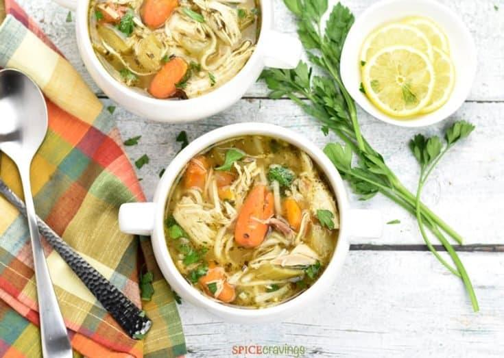 Instant Pot Chicken Noodle Soup (Gluten-Free)