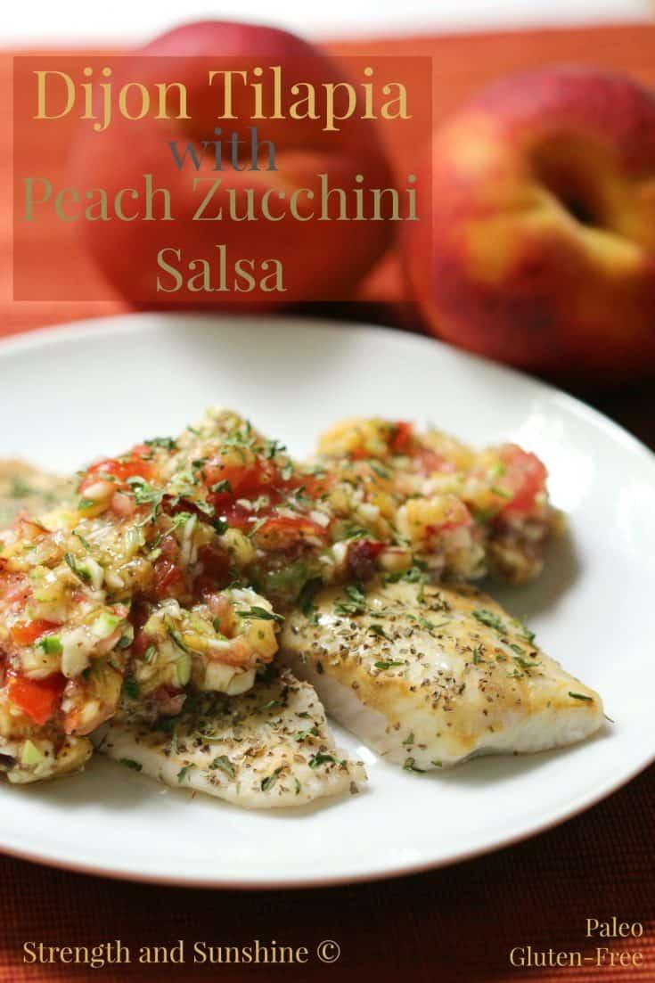 Dijon Tilapia With Peach Zucchini Salsa