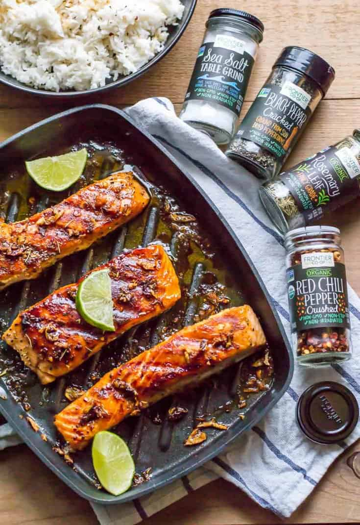 15-minute Grilled Honey Garlic Salmon