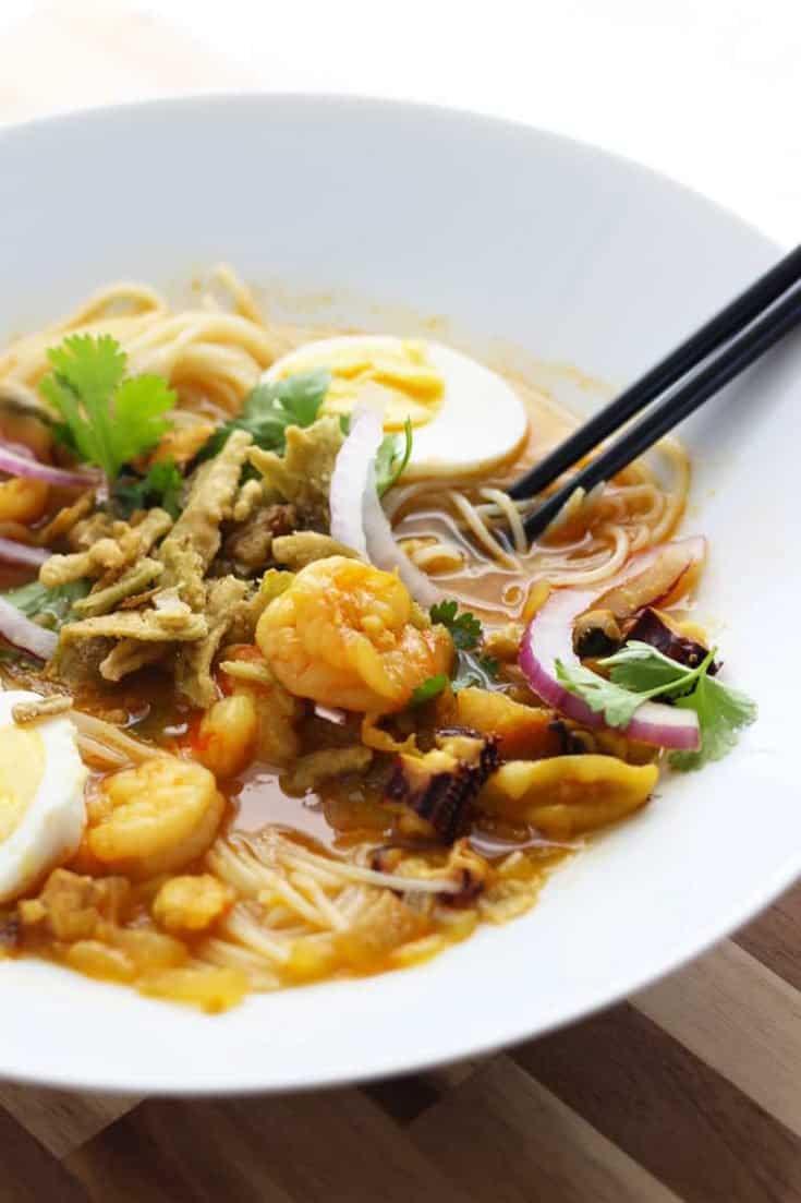 Mohinga   a Burmese Bouillabaisse