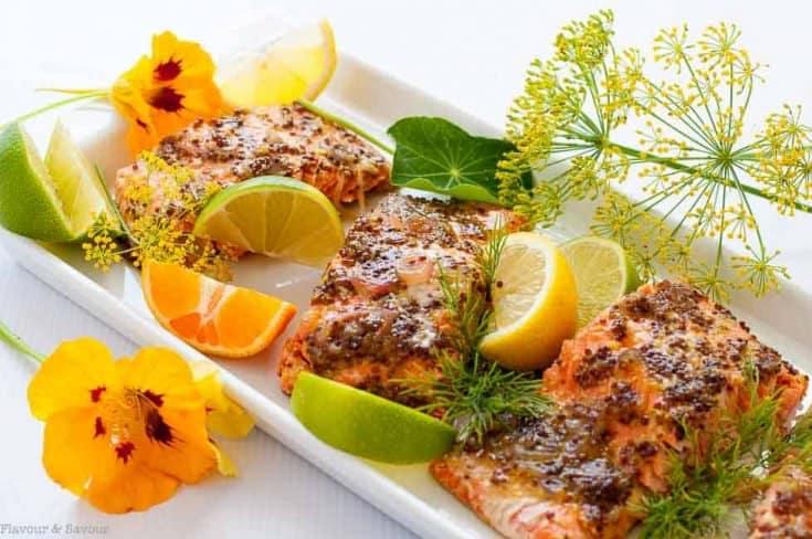Honey Dijon Glazed Salmon in Foil