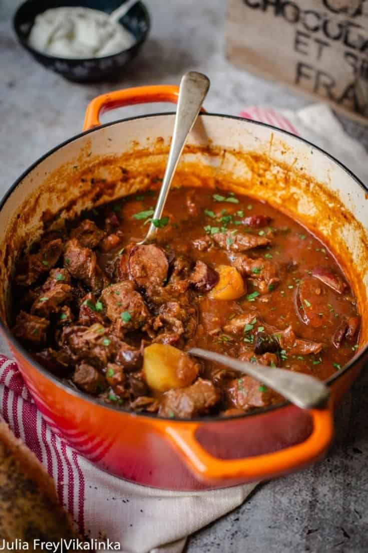 """Russian Sweet and Sour Beef Stew """"Solyanka"""""""