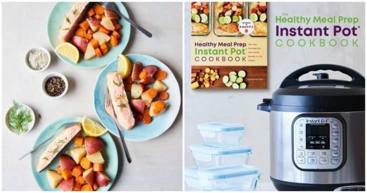 Instant Pot Salmon & Veggies with Lemon-Butter Sauce (Instant Pot Meal Prep!)