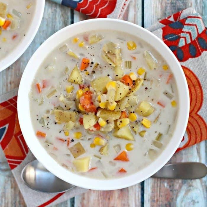 Vegan Potato Corn Chowder (Instant Pot)