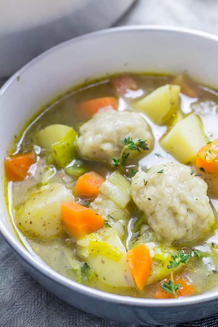 Vegetable Soup with Vegetarian Dumplings • The Cook Report