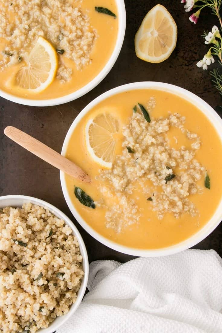 Squash and White Bean Soup with Quinoa
