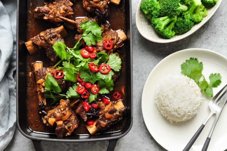 Asian Braised Beef Short Ribs