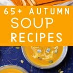 photo collage of fall soup recipes
