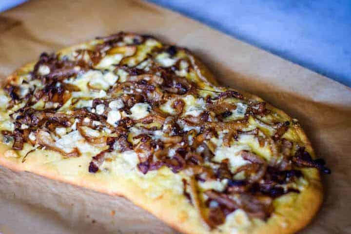 Caramelized Onion Pizza with Gorgonzola