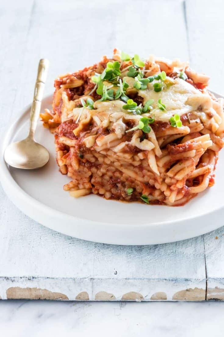 Crockpot Spaghetti Casserole