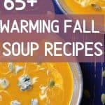 fall soup recipes with gorgonzola cheese garnish