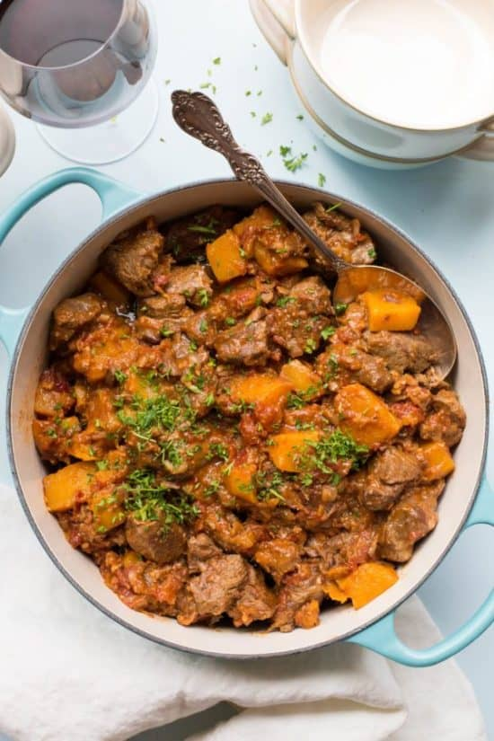 Moroccan Lamb and Butternut Squash Stew
