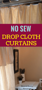 farmhouse curtains hanging next to a white desk