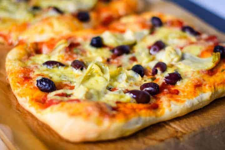 Olive & Artichoke Pizza