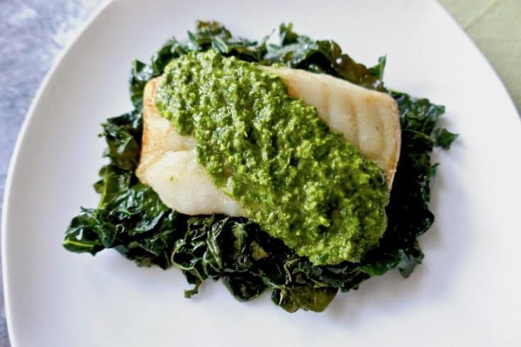 Roasted Cod with Mint Chimichurri (& How to Choose Fresh Fish)