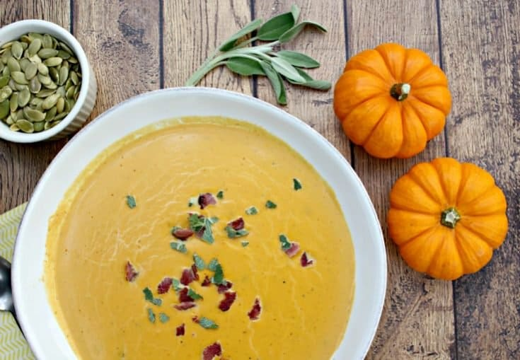 Savory Paleo Pumpkin Soup for Thanksgiving