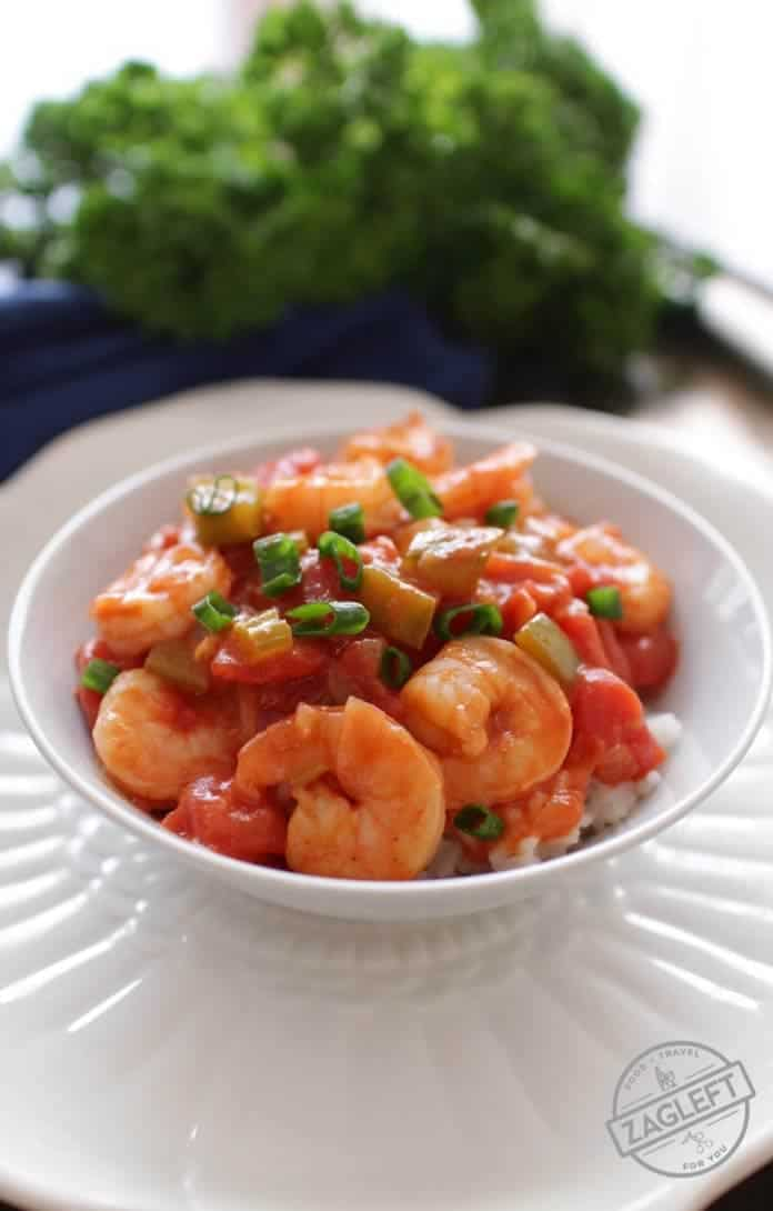Easy Shrimp Creole For One