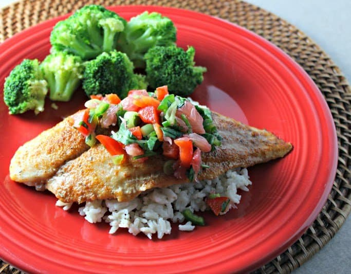Sweet and Spicy Swai Fillets with Citrus Salsa