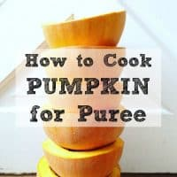 homemade pumpkin puree from scratch