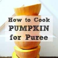 homemade pumpkin puree from scratch