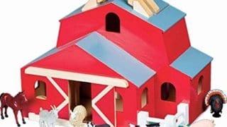 Melissa & Doug Fold & Go Barn With 7 Animal Play Figures