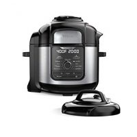 Ninja FD401 Foodi 8-qt. 9-in-1 Deluxe XL Cooker Air Fryer-Stainless Steel Pressure Cooker, 8-Quart