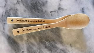 Engraved Wooden Spoon — Heart of the Farm Planner®
