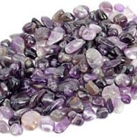 1 lb Amethyst Tumbled Stone Chips Crushed Natural Crystal Quartz Pieces