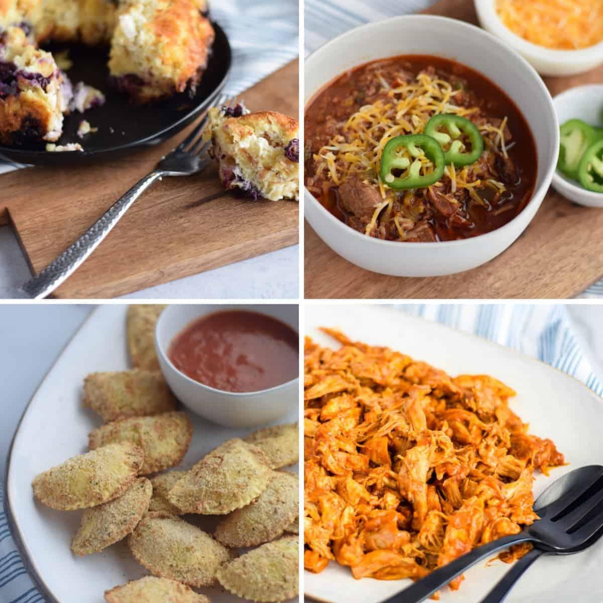 collage of Ninja Foodi recipes