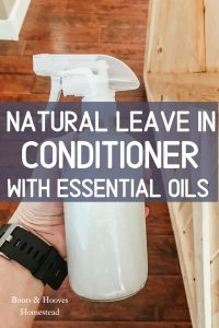 leave in conditioner in a glass spray bottle