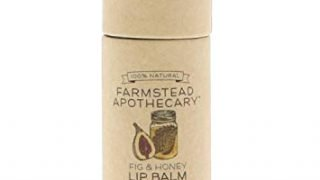 Farmstead Apothecary 100% Natural Lip Balm with Organic Beeswax, Organic Shea Butter & Organic Coconut Oil