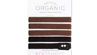 ORGANIC HAIR ELASTICS in BROWN AND BLACK | Biodegradable, Plastic-Free Hair Ties Made in a Fair Trade Certified Facility
