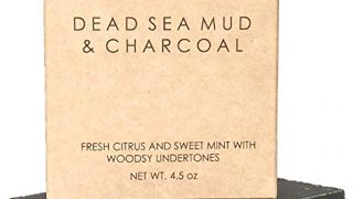 Dead Sea Mud Soap Bar Natural & Organic Ingredients. With Activated Charcoal & Therapeutic Grade Essential Oils. Chemical Free. 4.5 oz Bar