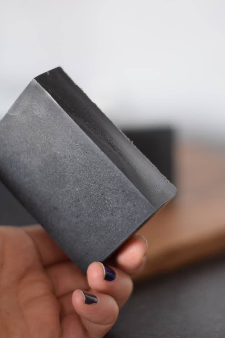finished charcoal soap recipe