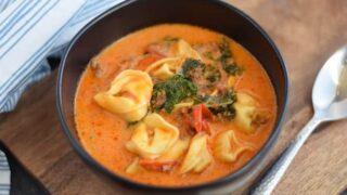 Creamy Italian Sausage Tortellini Soup
