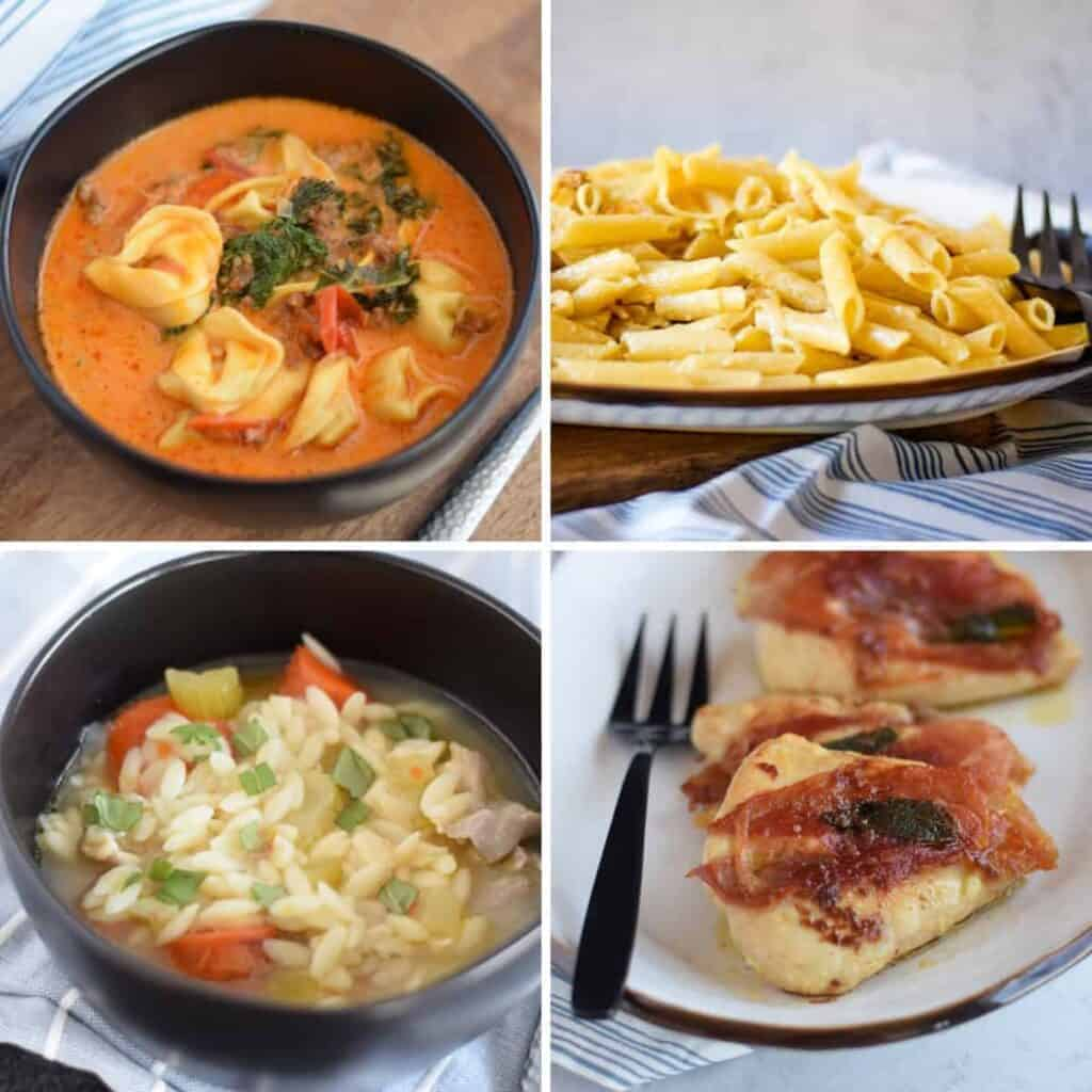 collage of easy 30 minute dinners