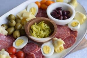 close up image of antipasto platter