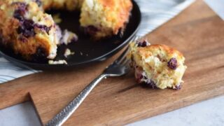 Cream Cheese Bread Pudding with Blueberries (Ninja Foodi)