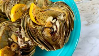 Delicious Roasted Artichokes with Dipping Sauce in the Ninja Foodi
