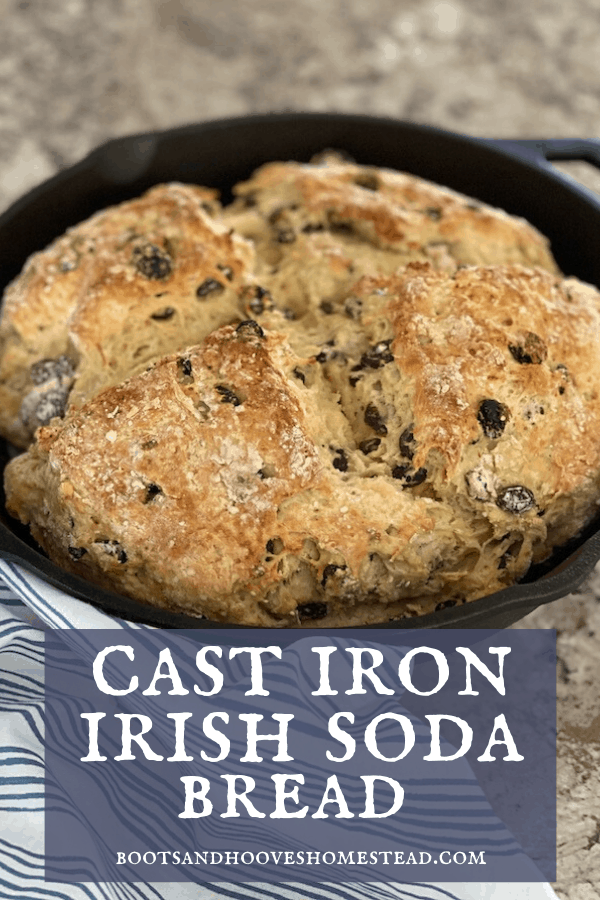 cast iron Irish soda bread