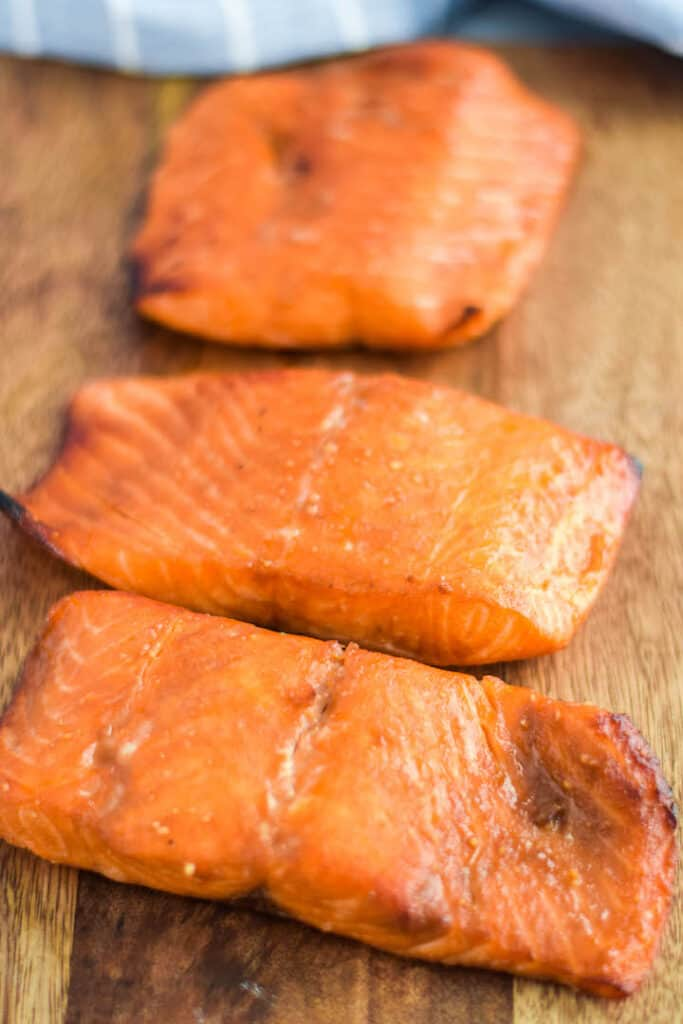 salmon fresh out of the Ninja Foodi.