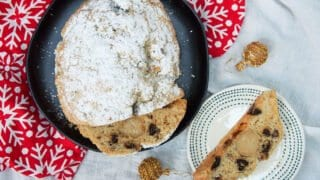 Traditional German stollen with prunes