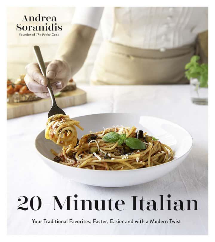 20 minute Italian cookbook cover