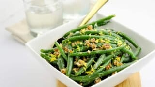 Skillet Parmesan Pecan Green Beans
